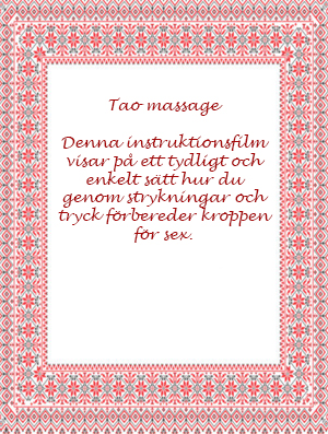 DVD Tao Massage